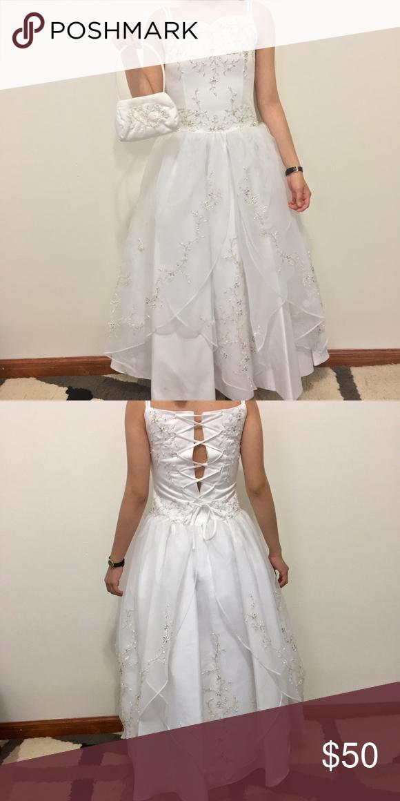 e02e7758c92b 🌹White Dress with purse (Kid's Size 6) 🌹 🌹White Wedding/Communion Dress ( Kid's Size 6) 🌹 Dresses Wedding