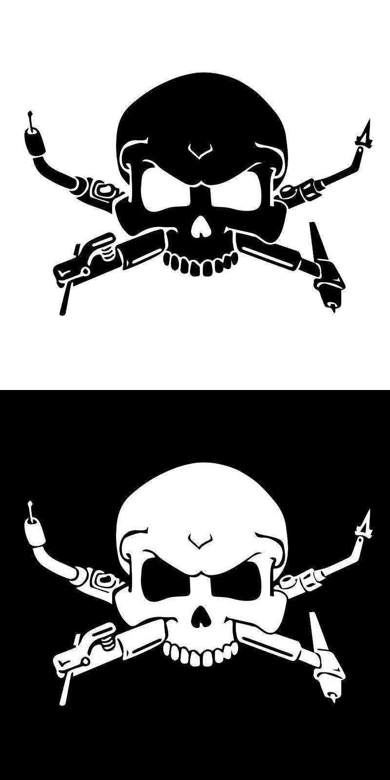 Visit To Buy CM Interesting Welders Skull Car Stickers - Skull decals for motorcycles
