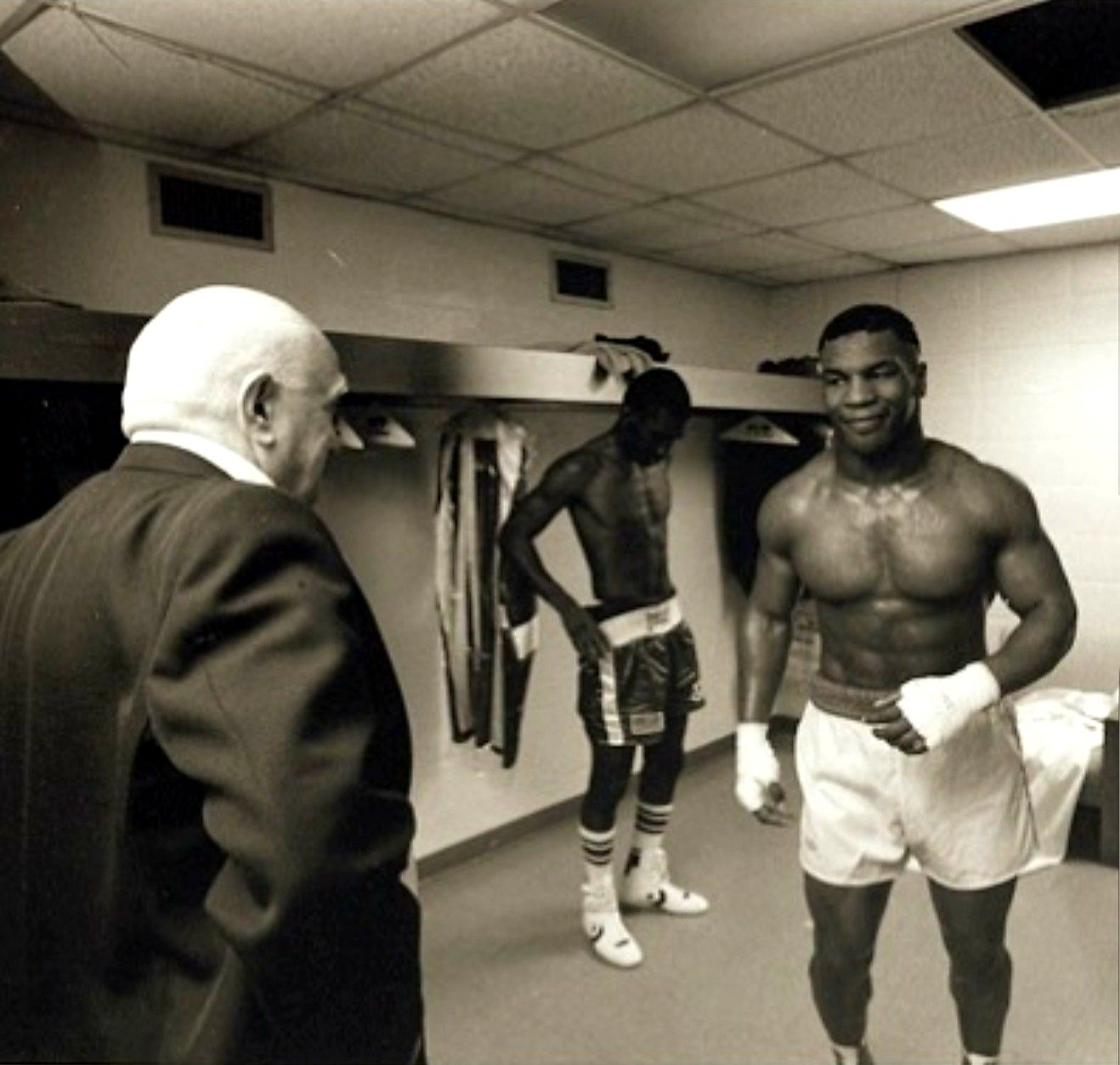 Iron Mike With His Paps Cus D Mike Tyson Cus D Amato Tyson