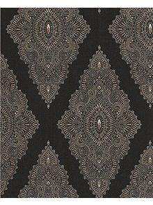 Black/gold jewel wallpaper