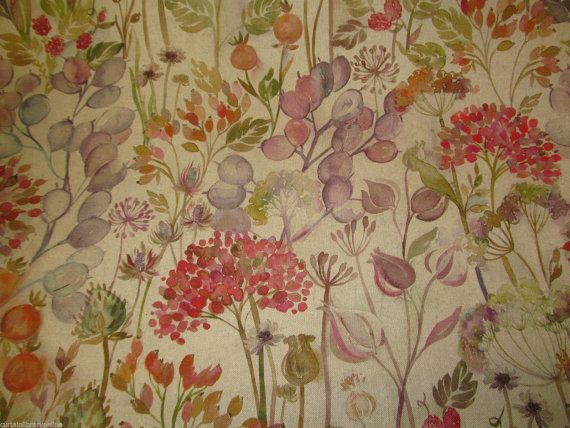 Voyage Hedgerow Autumn Designer Curtain Fabric Roll 140 Cm Wide Sold By The Metre Curtain Designs Fabric Mixing Fabrics