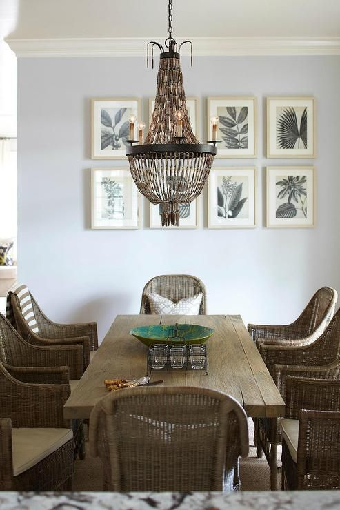 Coastal Style Dining Room Using