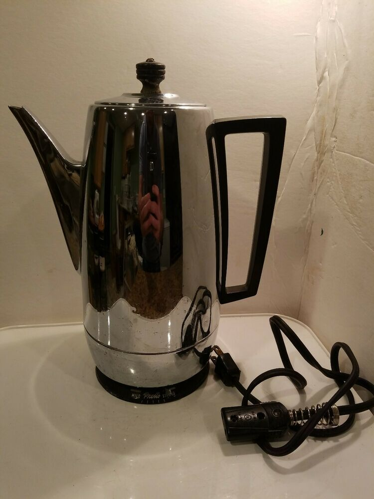 Vintage Presto S 20 Stainless Steel 2 12 Cup Adjustable Electric Percolator Presto Percolator Percolator Coffee Maker Steel