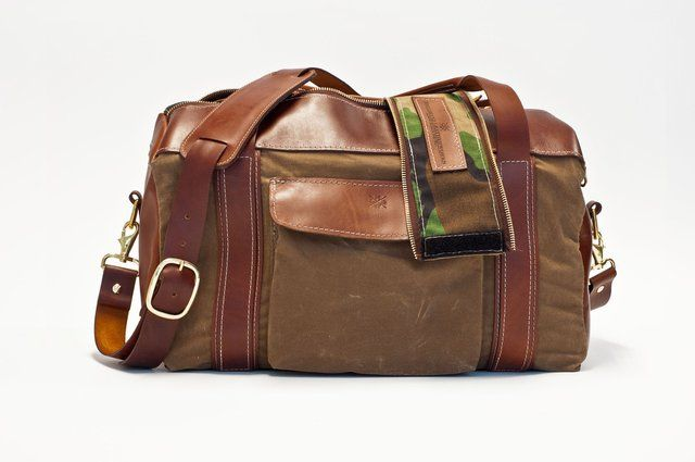Camo Smuggler's Duffel by Hellbrand Leather
