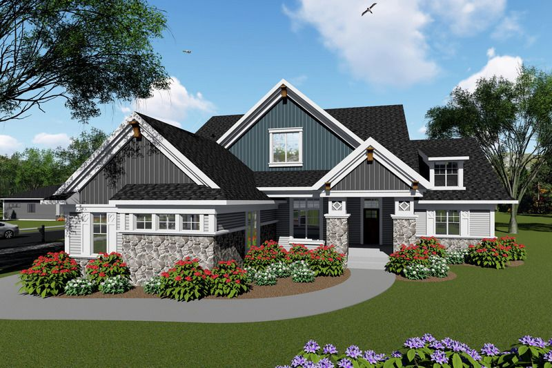 Ranch Style House Plan 3 Beds 2 5 Baths 2495 Sq Ft Plan 70 1425 Ranch Style House Plans Craftsman House Plans Craftsman House