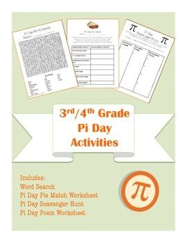 3rd 4th common core aligned pi day math and language arts activity