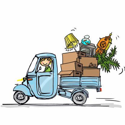Ik heb deze afbeelding van een verhuiswagen gekozen omdat for Ik ga verhuizen