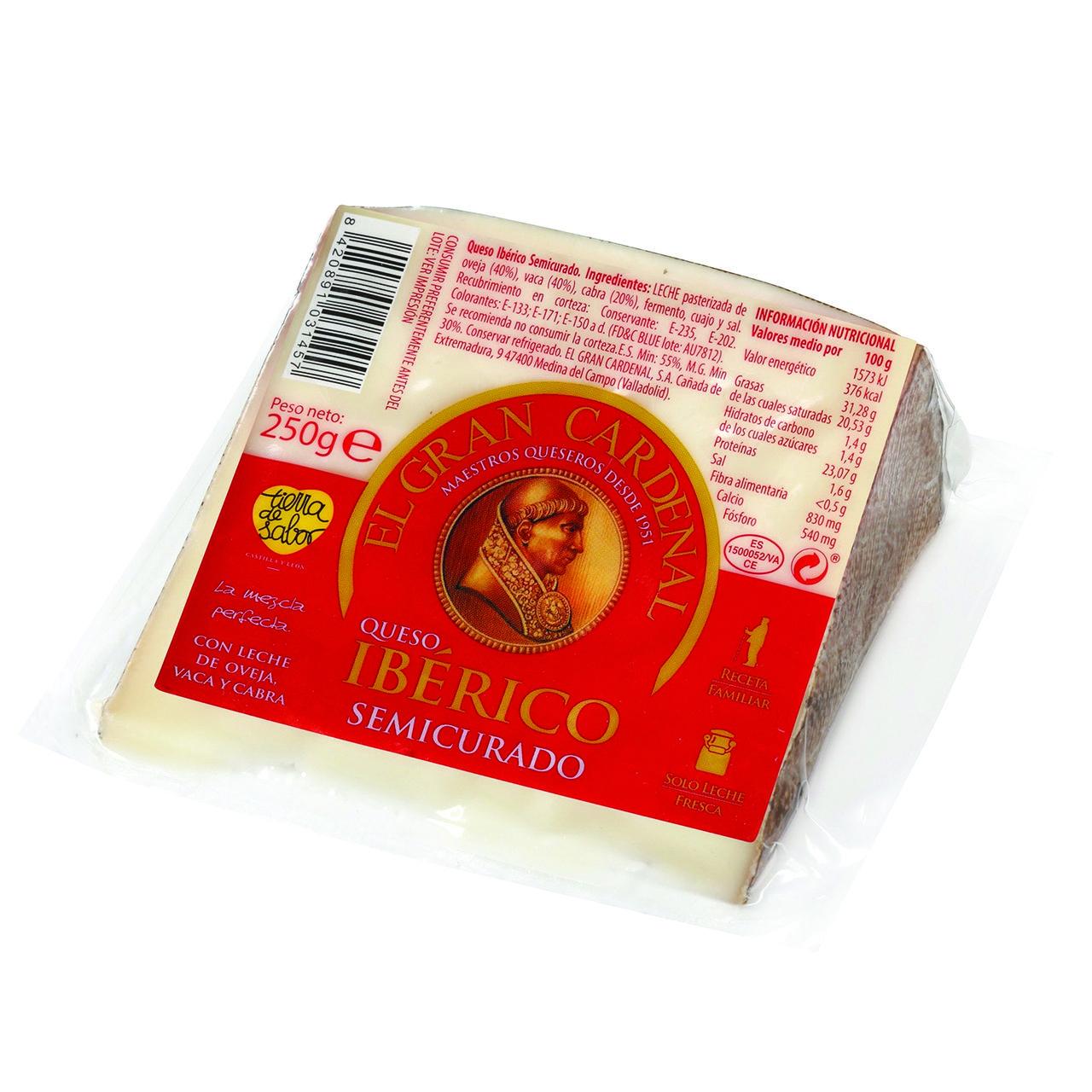 Cheese Iberico Semi Curado Del Cardenal In 2020 Cheese Wedge Iberico Cheese Chorizo Sausage