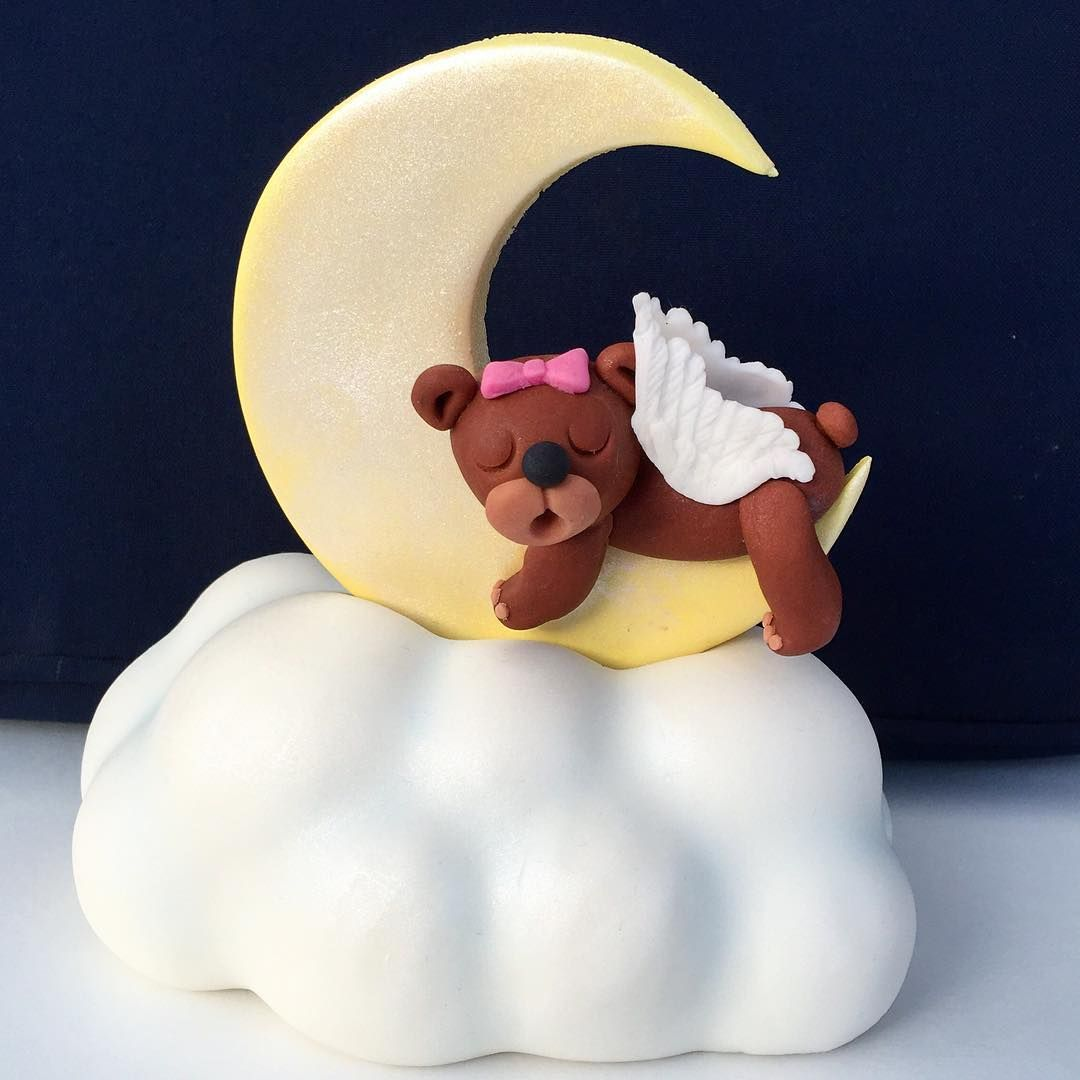Sleeping Bear cake topper 🐻 - Sovende bjørn kagetopper