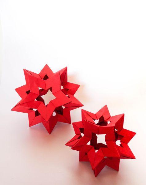 kusudama star holes (Francesco Mancini) #julestjernerpapir