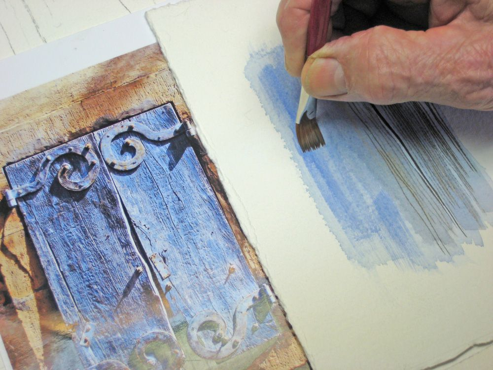 Watercolour tutorial shutters art2 pinterest for Painting on water tutorial