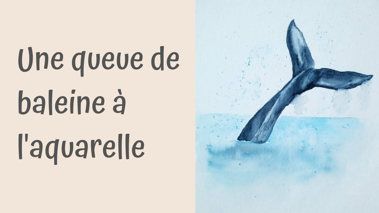 Tutoriel Aquarelle Une Queue De Baleine Aquarelle Baleine