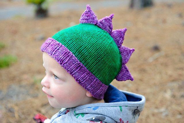 Roar A Dinosaur Hat Pattern By Kate Oates Dinosaur Hat Mittens