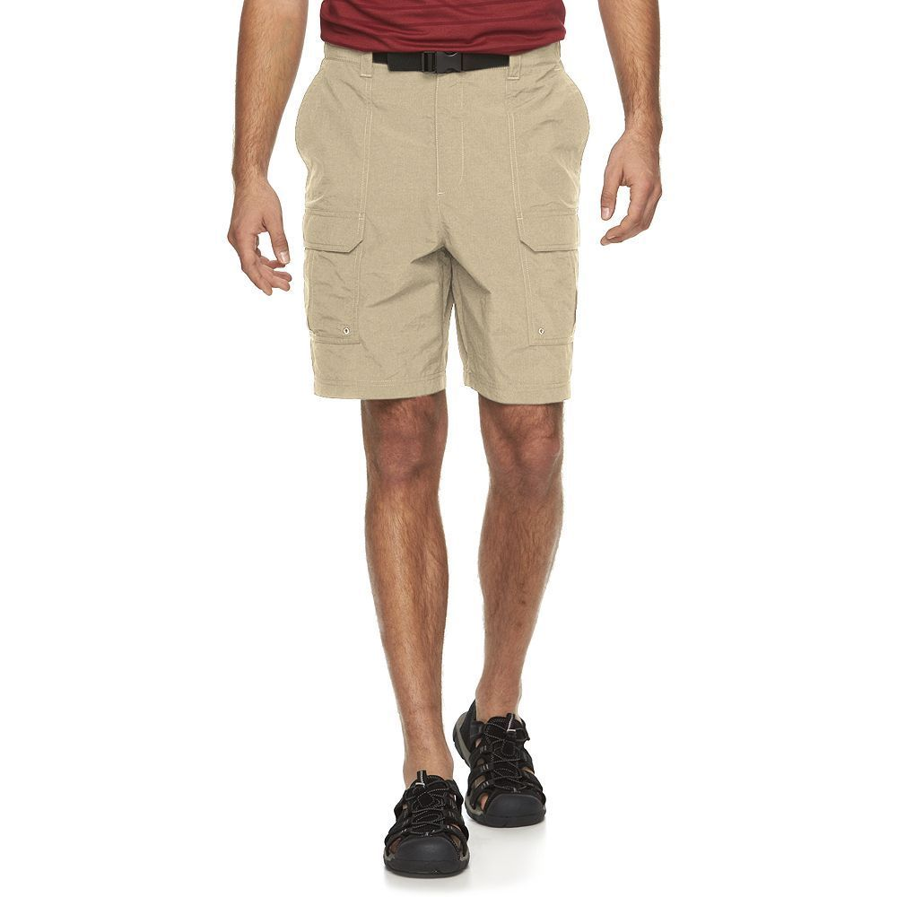 4590874f96 Croft & Barrow Men's Synthetic Side Elastic Belted Cargo Shorts ...