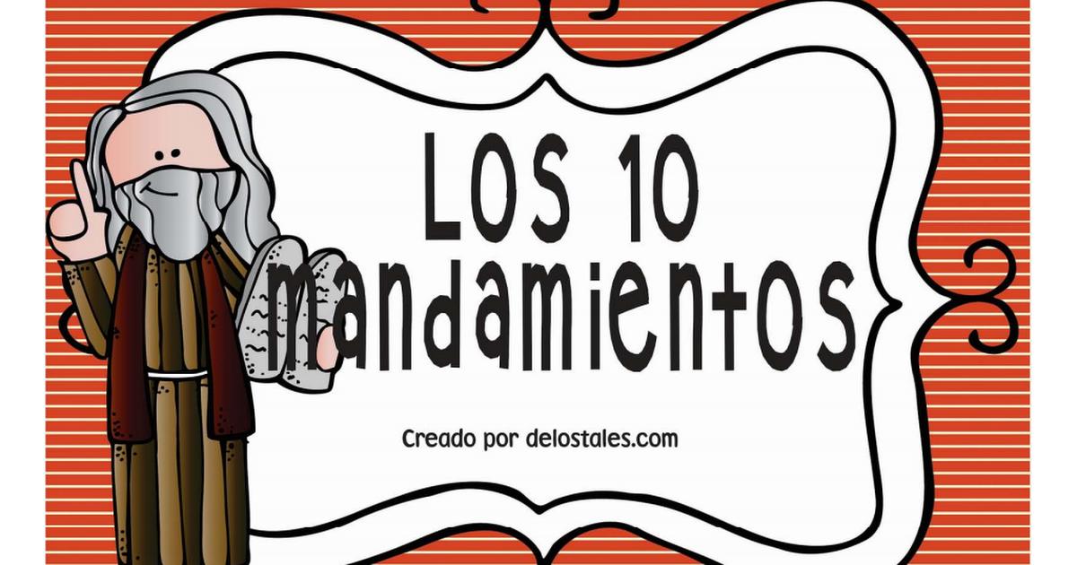 Los 10 Mandamientos Por De Los Tales Pdf Los 10 Mandamientos Escuela Dominical Catequesis