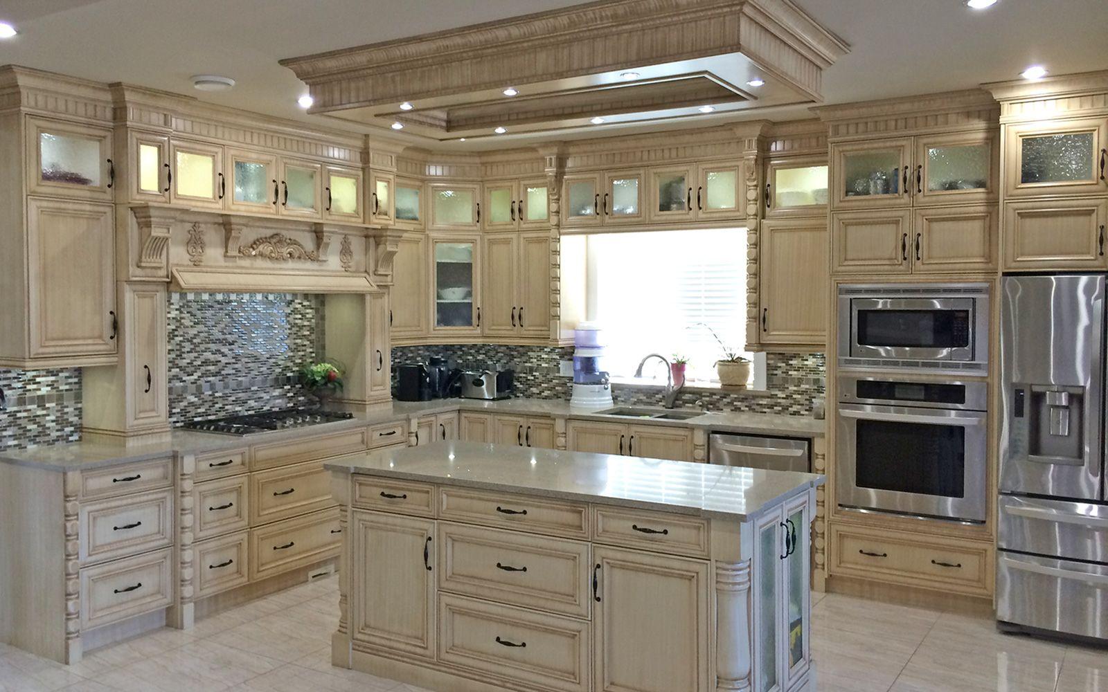 Calgary Custom Kitchen Cabinets Ltd Semi White Custom Kitchen