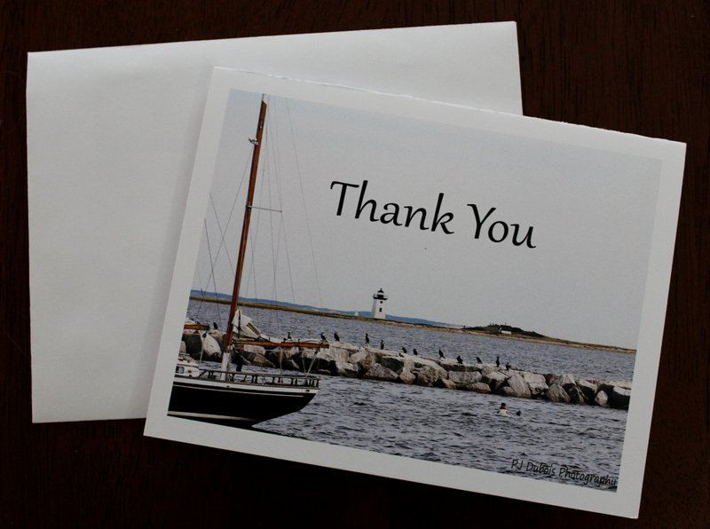 Thank You Note Cards 12 blank Ocean View photo note cards, original