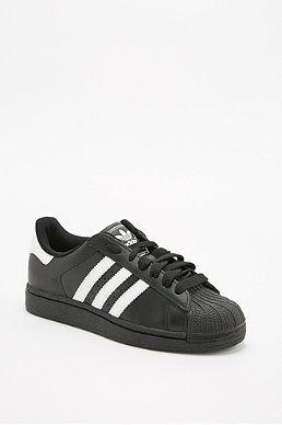Adidas Originals Superstar 2 White Stripe Trainers in Black