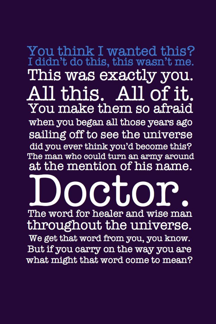 Quotes - Doctor who quotes   Come to the dork side; Doctor ...