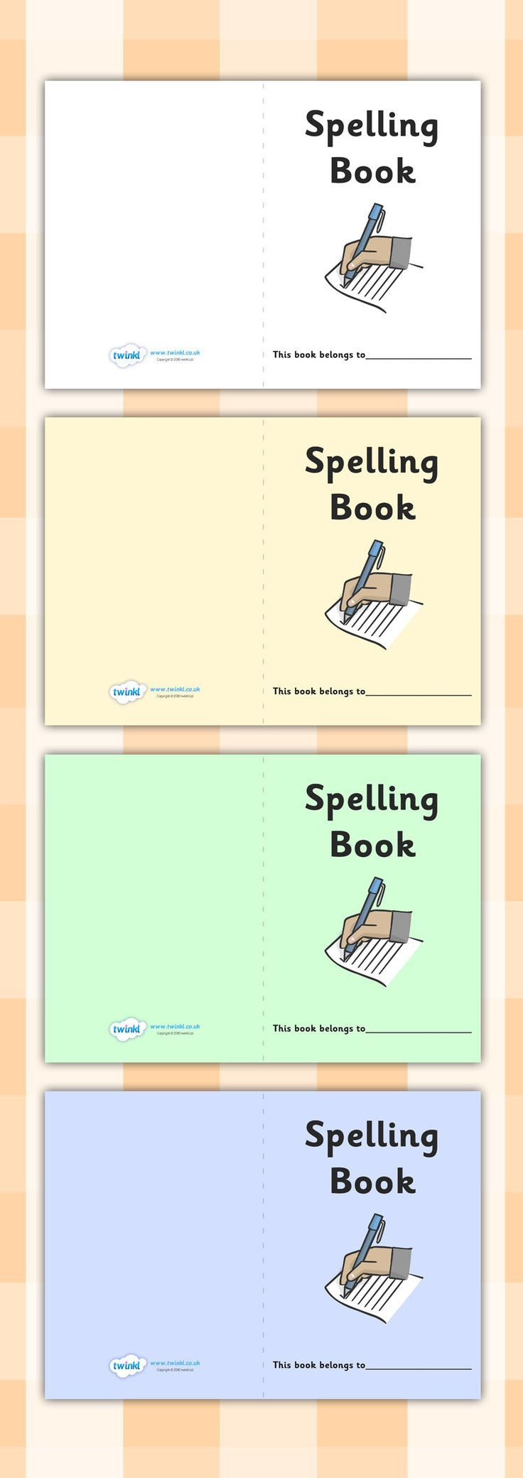 Spelling Book Cover. Free Printable   Teaching   Pinterest   Phonics
