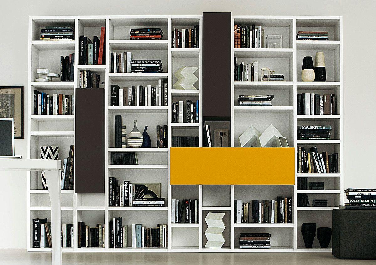 Arredamento Libreria ~ Libreria bifacciale componibile systema b sololibrerie vendita