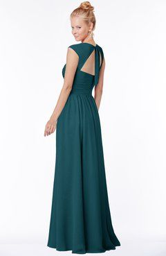 373768f1061c ColsBM Anna Blue Green Modest Sleeveless Half Backless Chiffon Floor Length  Bridesmaid Dresses