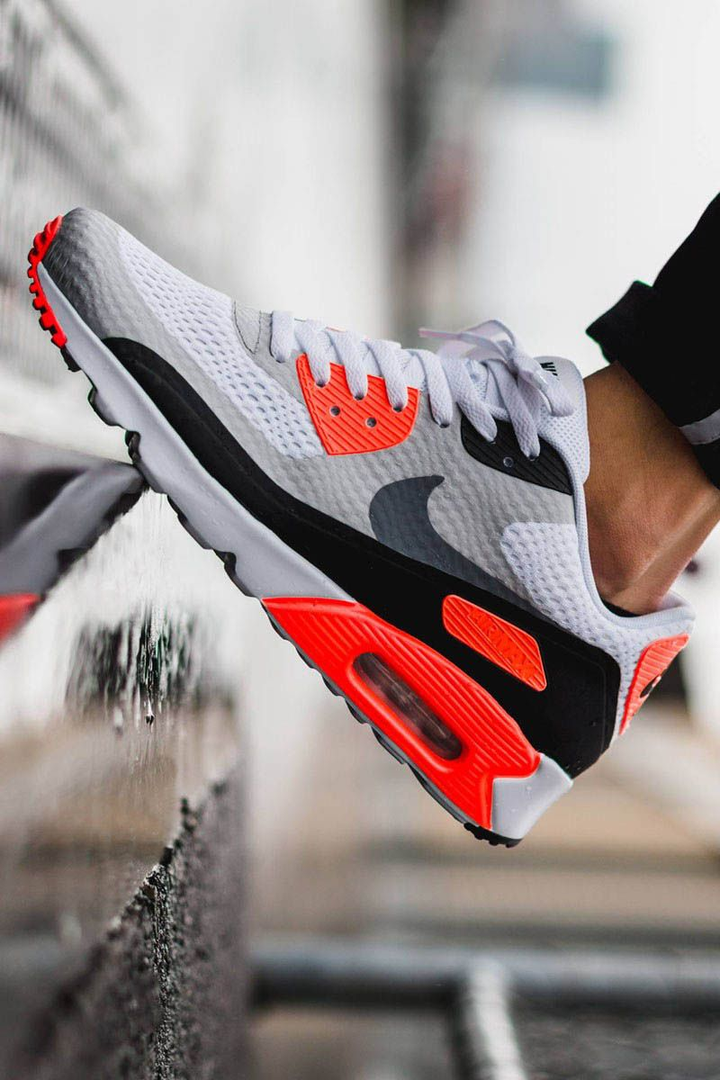 47ada6f66f3dd8 NIKE AirMax 90 Ultra Essentials  infrared  airmax. Find this Pin and more  on Shoes ...