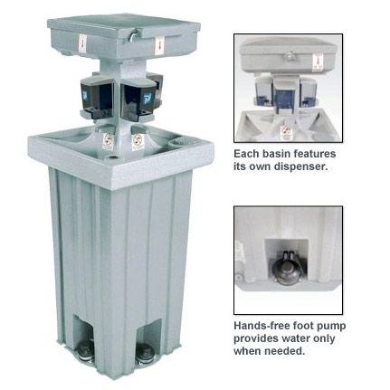 Polyjohn Portable Hand Washing Sink 4 Users Ps14 1000 Hand