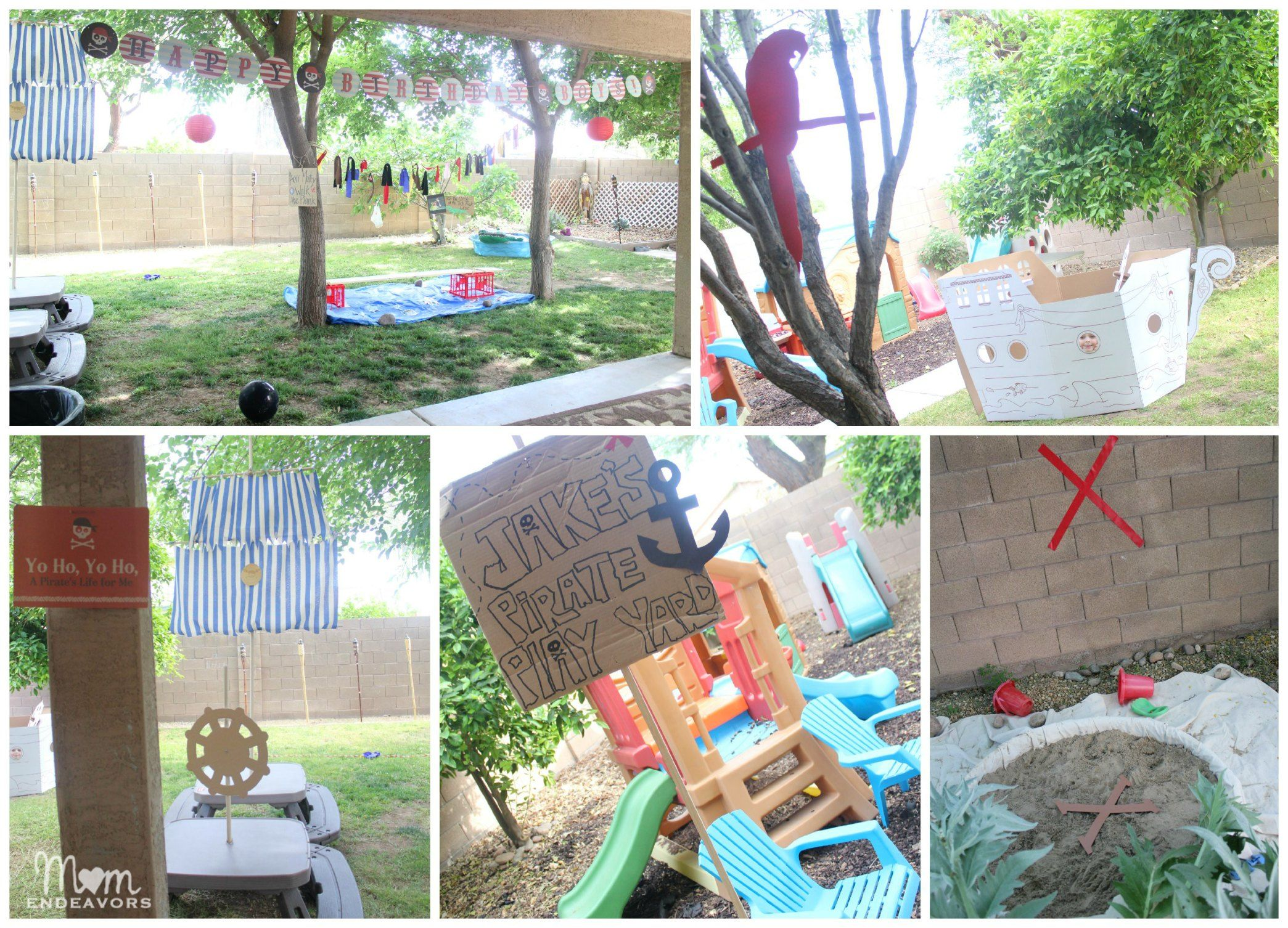 Pirate Theme Party Decoration Ideas Part - 46: Outdoor DIY Pirate Party Decor