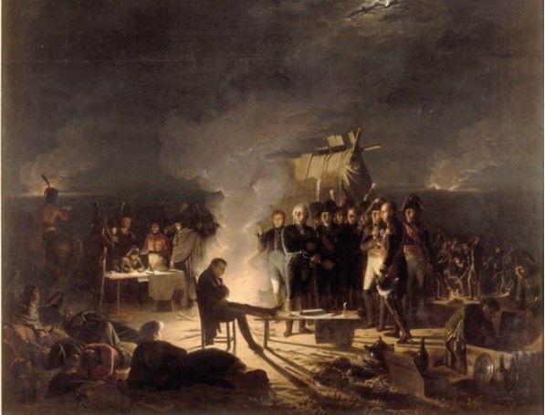 Le Bivouac De Napoleon Champ De Bataille Bataille Guerres Napoleoniennes