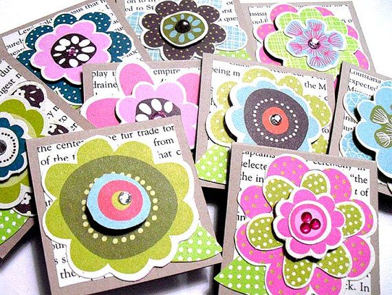 Mini Layered FLOWER Cards