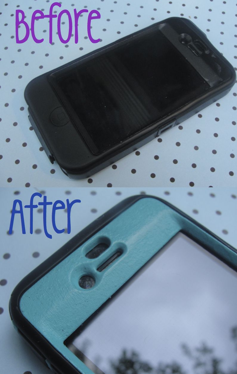 Paint The Plastic On Your Iphones Otterbox Case To Give A Fresh