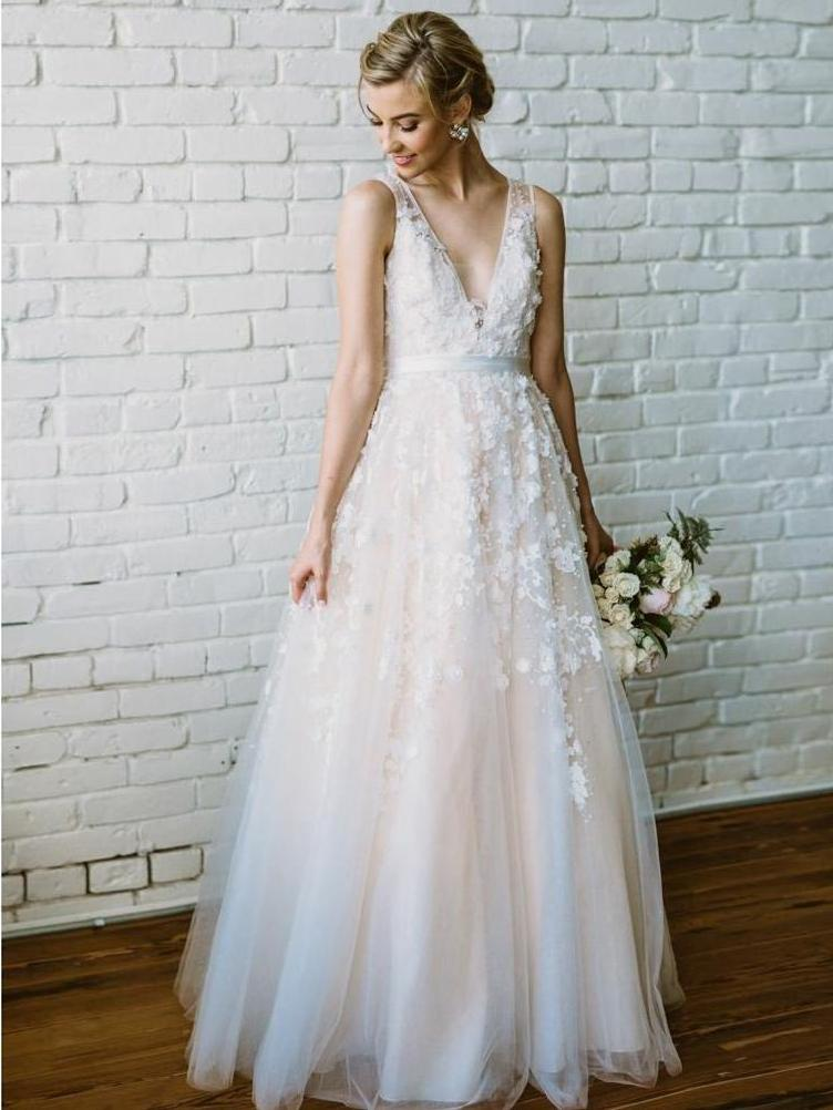 Beautiful Wedding Dresses With Straps A Line Beading Lace Romantic Bridal Gown Jkw293 Bridal Dresses Uk Online Wedding Dress V Neck Wedding Dress,Average Cost Of Wedding Dress Alterations 2020