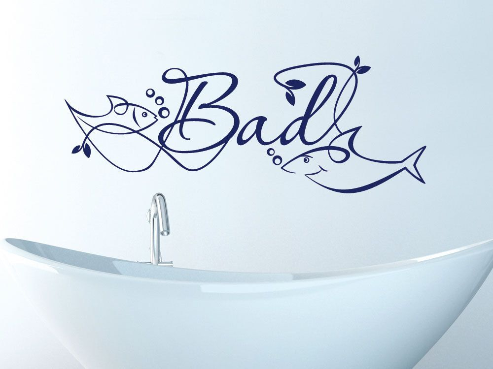 Wandtattoo Wandaufkleber Tattoo für Badezimmer Schriftzug Bad - wandtattoos fürs badezimmer