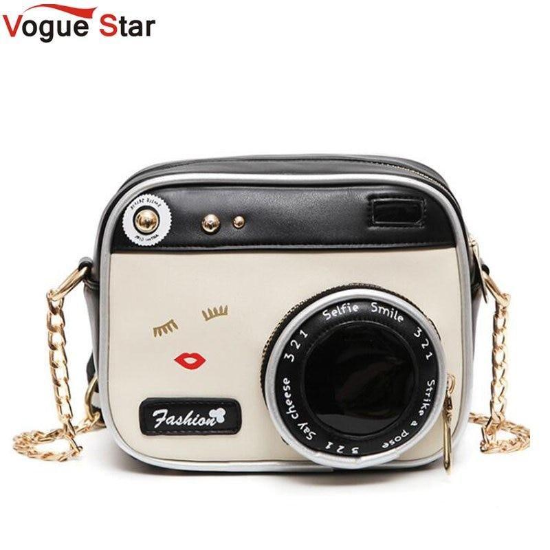 c2e95f0b45 Camera Shape Shoulder Bag Personality Camera Modeling Bag Women Messenger  Chain Bag Cheap Women Handbags Purse