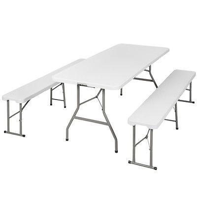 Klapptisch Koffertisch Falttisch Gartentisch Campingtisch Sitzbanke Campingmobel With Images Portable Table Table Folding Table