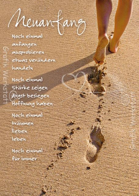 Abschied Neuanfang neuanfang postkarten grafik werkstatt bielefeld sprüche