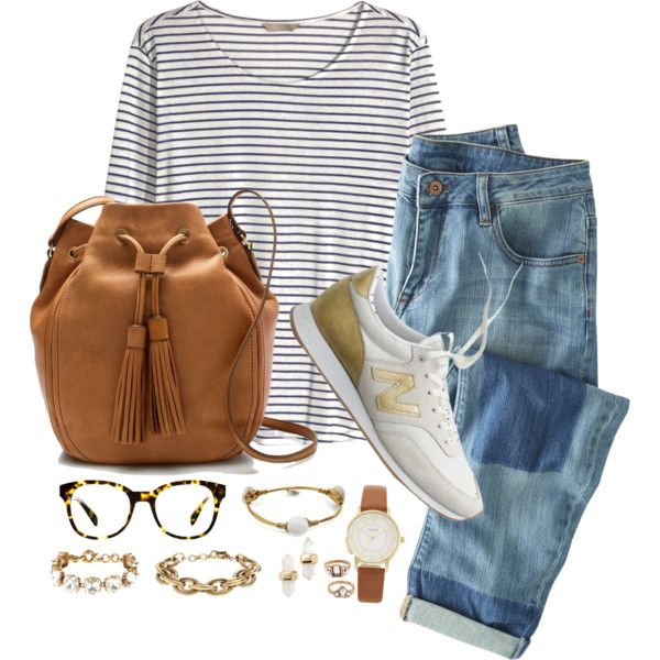 Stripes & Warby Parker by classycathleen on Polyvore featuring H&M, Wrap, J.Crew, Bourbon and Boweties, Kate Spade, Kendra Scott, Forever 21 and Warby Parker