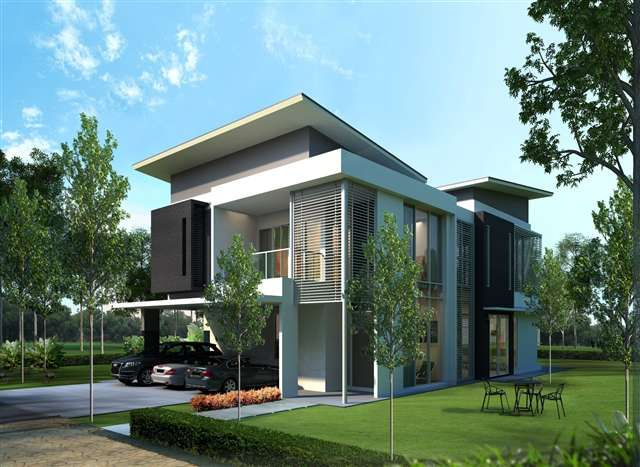 new bungalow house for sale at cypress residences double storey rh pinterest com modern bungalow design malaysia modern bungalow design malaysia