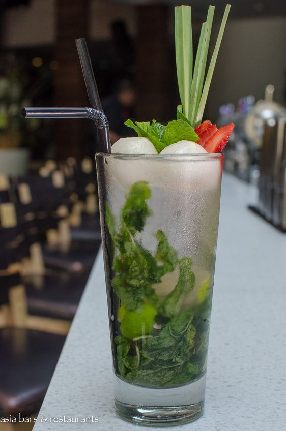 Lychee Rose Mojito Rum Rose Syrup Brown Sugar Lychee Liqueur Lime Wedges Mint Leaves
