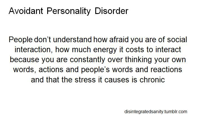 Dating with avoidant personality disorder