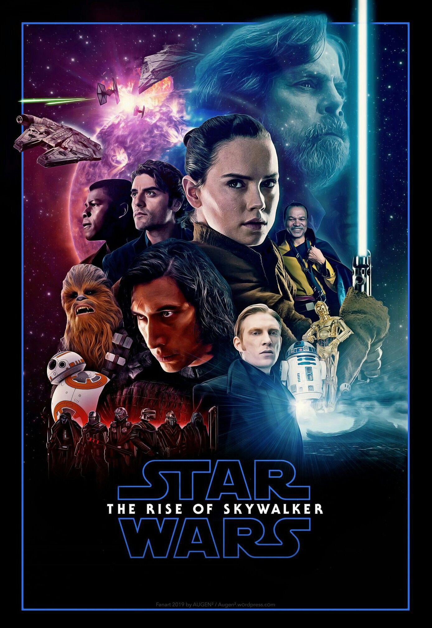 The Rise Of Skywalker Star Wars Poster Star Wars Watch Star Wars Fan Art