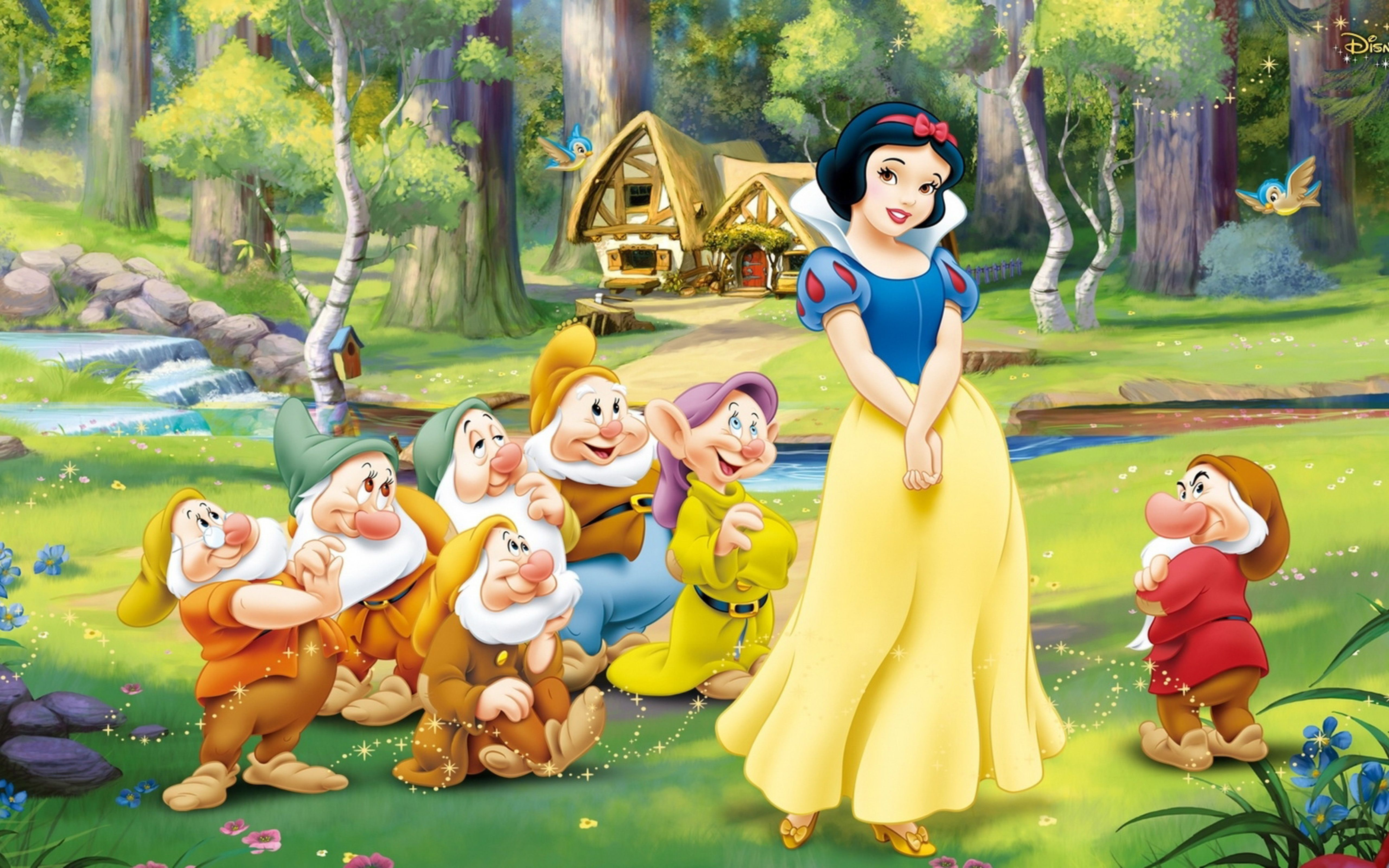 Wallpaper Download 5120x3200 Snow White And The Seven Dwarfs 3d Wallpaper Cartoon And Disney Princess Snow White Cartoon Wallpaper Disney Cartoon Characters