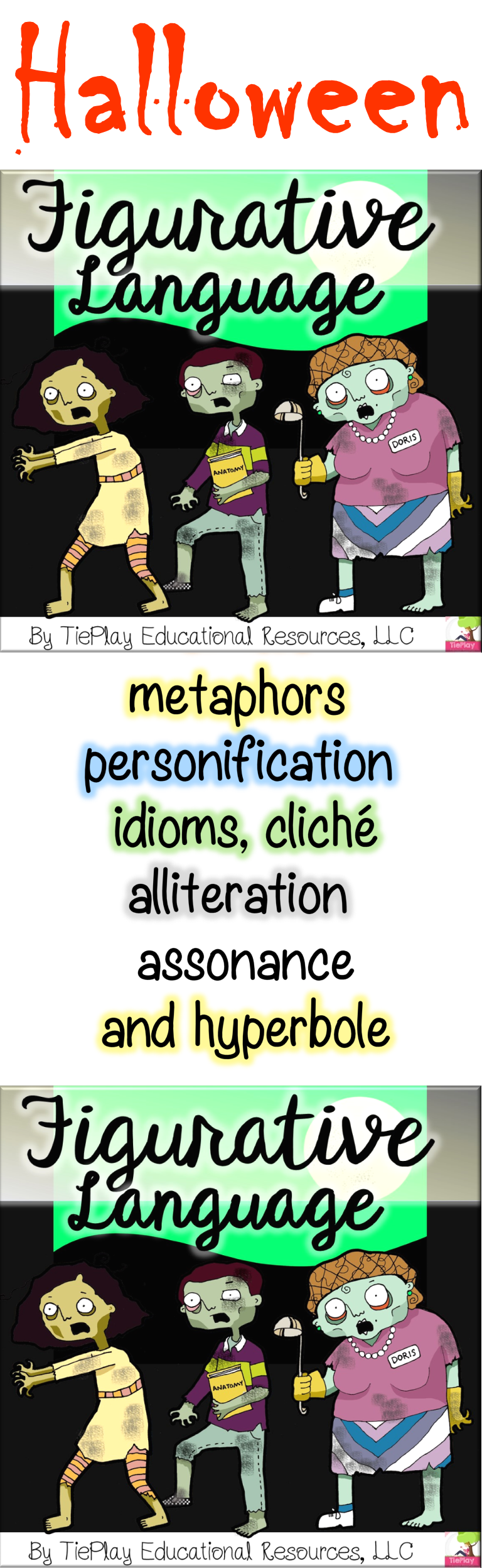 Is Figurative Language Learning Haunting Your Class Well These Zombies Are Out Of The Figurative Language Activity Similes And Metaphors Figurative Language [ 2496 x 768 Pixel ]