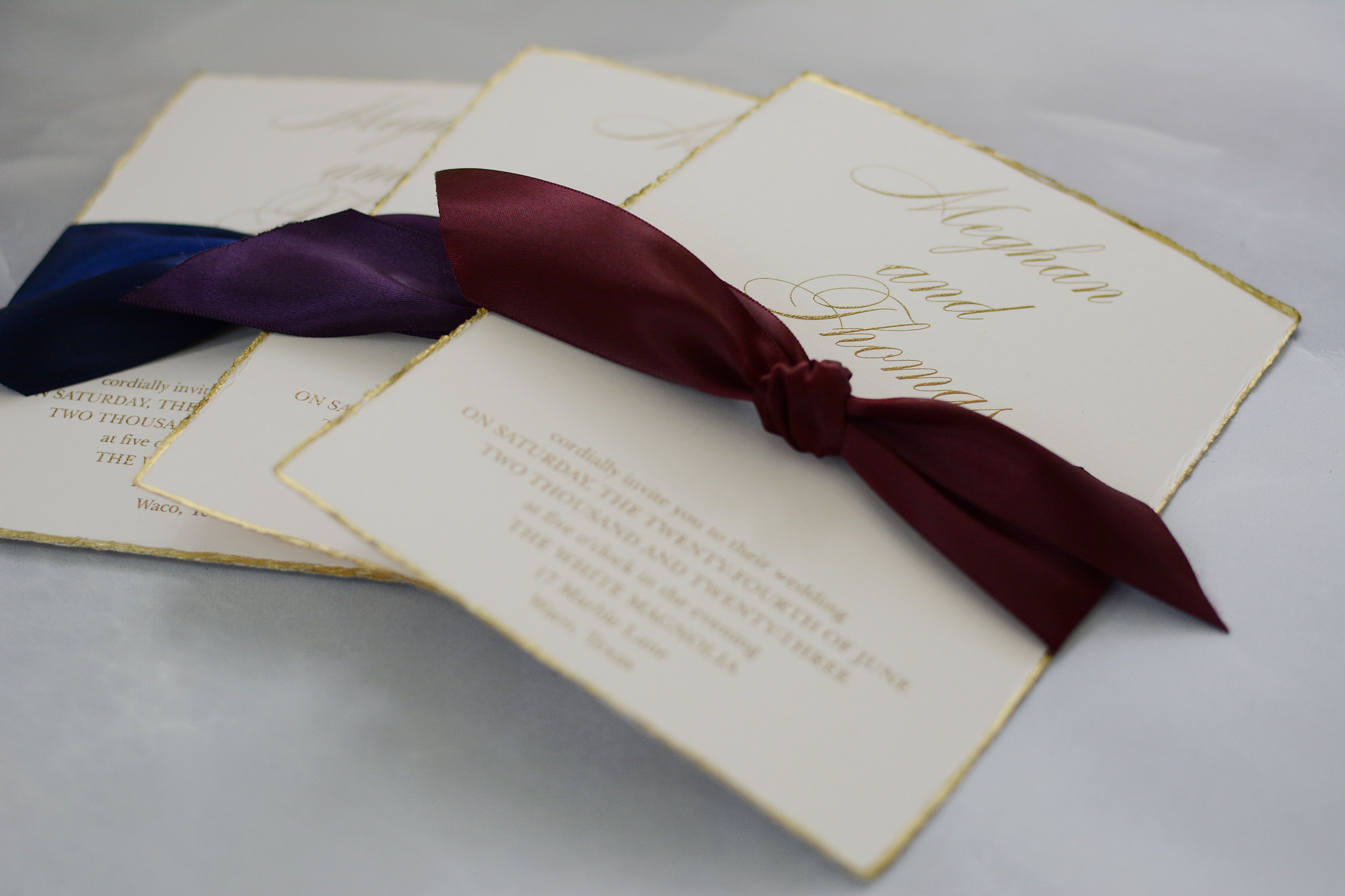 Jeweled Deckle Invitation In 2019 Elegant Wedding