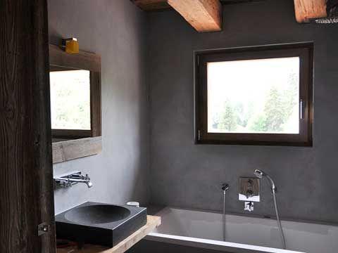 enduit béton ciré MERCADIER Tadelakt concrete Bathroom Pinterest - enduit salle de bain