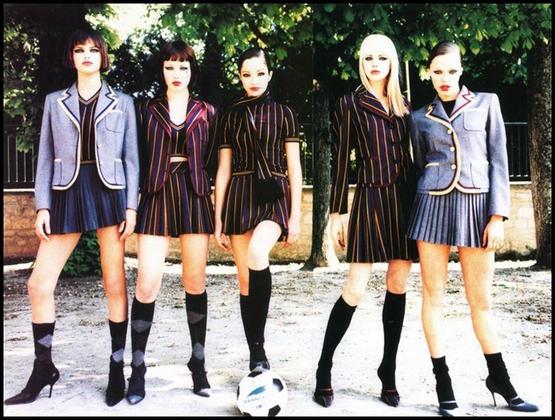 Italian Teen Girls In Future Soccer Kit Or Referees Strip
