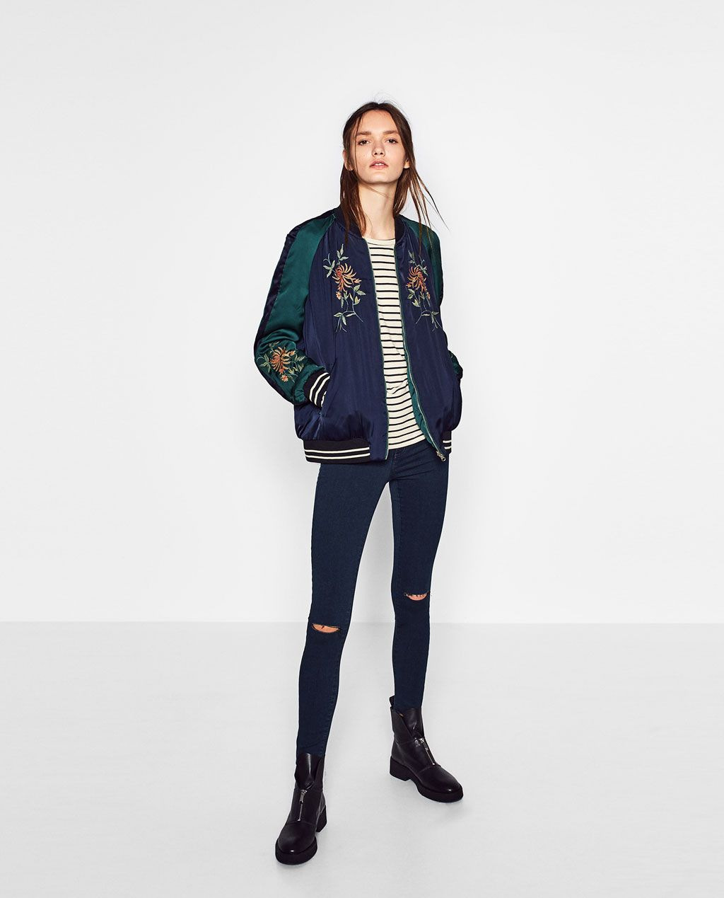 EMBROIDERED REVERSIBLE BOMBER JACKET-View all-OUTERWEAR-TRF | ZARA ...