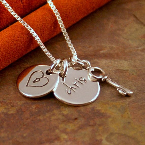 Hand Stamped Necklace  Personalized Sterling by IntentionallyMe, $37.50