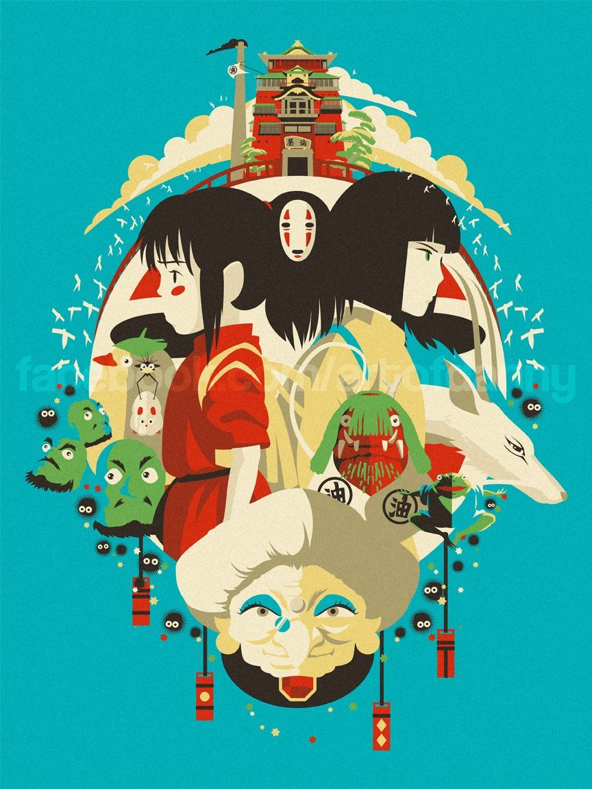 Spirited Away Collage Art Of Danny Studio Ghibli Fanart Studio Ghibli Characters Studio Ghibli Spirited Away